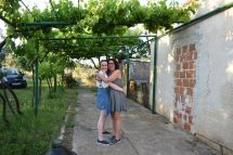 Lissa and I under grape vines