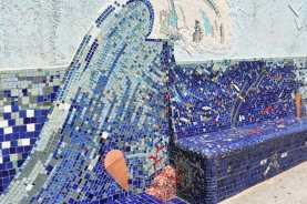 Mosaic bench in Mali Lošinj