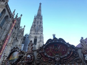 A carnival happening in front of St. Stephens Cathedral