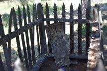 Old wooden preserved grave